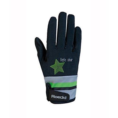 Roeckl Sports Junior Handschuh -Kelli- Kinder Reithandschuh, Schwarz, 4
