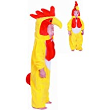 Fun Play disfraz animal pollo para niño- animal Onesie pollo para niños 3-5 años talla M