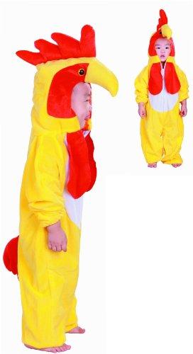 Kostüm Child's Play - Fun Play Hühner kostüm für Kinder - Kostüm Tier Schlafanzug für Jungen und Mädchen - Kinder Kostüme für mittlere 3-5 Jahre (110 cm)