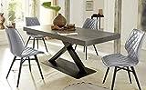 Altacom Esstisch Gorizia | Tisch | Küchentisch | Schiefer Optik | 180 cm x 90 cm | ausziehbar 230/280 cm | mit kratzfester Melamin Oberfläche