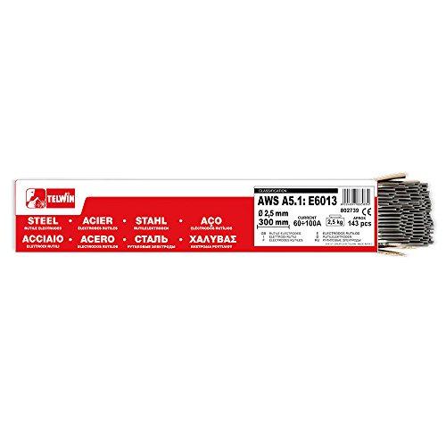 Telwin - Paquete rutilos acero AWS A5.1: E6013, 143 ± 3 piezas aprox. Ø 2,5 x 300 mm, 2,5 kg