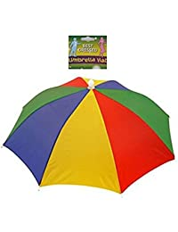 nicebuty diadema ajustable sol paraguas sombrero diadema, sol lluvia paraguas sombrero gorra de Cap, para pesca