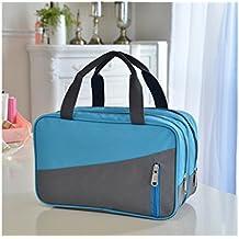 HNBGY Práctico Bolso de la Piscina del poliéster de la Capacidad Grande al Aire Libre Bolso de la Gimnasia Holdall Travel Weekender Duffel Bag (Azul)