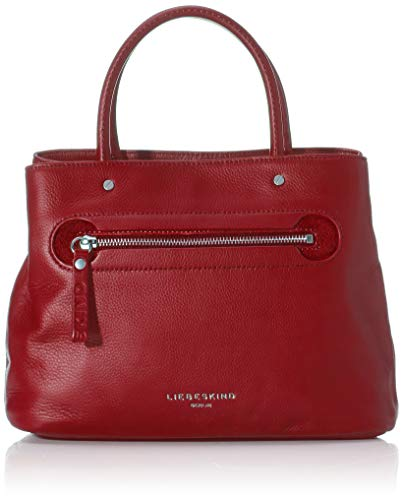 Liebeskind Berlin Damen Mini Daily 2 - Satchel Small Henkeltasche, Rot (Dahlia Red), 11x22x27 cm