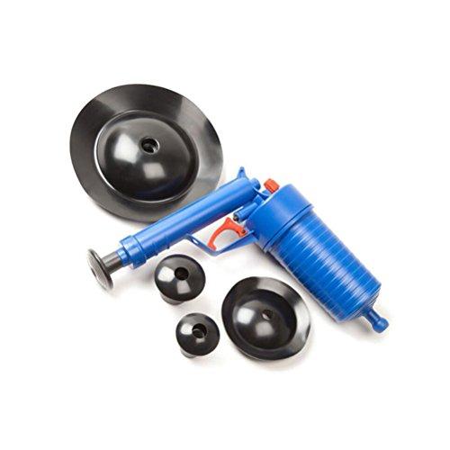 OUNONA Druckluft Rohrreiniger Hochdruck für Bad und Küche (Blau)