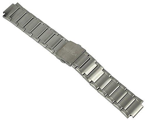 Nautica Ersatzband Uhrenarmband Edelstahl Band silbern A16654G / NST 700 / Ø 45mm / 28490
