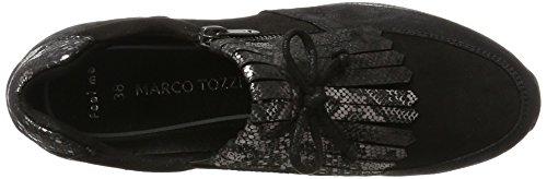 Marco Tozzi 24702, Mocassins Femme Noir (Black Comb)