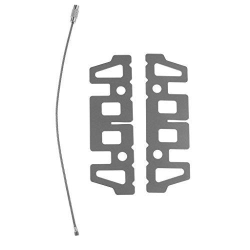 Homyl Titanium/Edelstahl Alkohol Kreuz Ständer, 95,5 × 29 × 1 mm - Titanium Rack