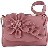 Markscott Women/Girl's Sling Cross Body Bag (FLR-031,Pink)