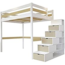 lit mezzanine escalier. Black Bedroom Furniture Sets. Home Design Ideas