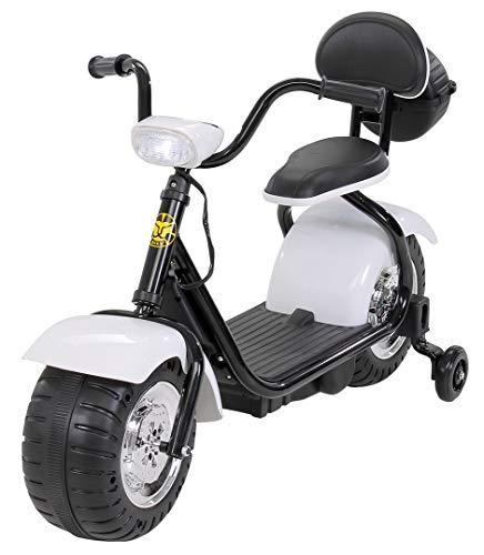 Actionbikes Motors Kinder Elektromotorrad Harley Scooter BT306 - 15 Watt Motor - Weichgummiring Reifen (Weiß)