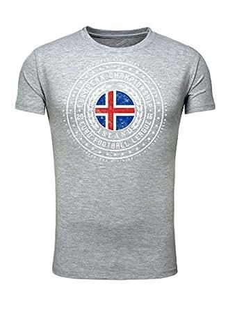 Legendary Items Herren T-Shirt EM 2016 Trikot Wappen Island Iceland Fußball Europameisterschaft Vintage European Championship