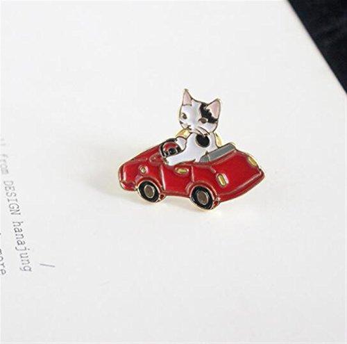Broschen für Frauen Kleidung Dekoration Schmuck Lustiges nettes Katzen-Auto formte Broschen-Knopf-Ausweis-Kleidungs-Zubehör (Katze In Den Hut-partei-zubehör)