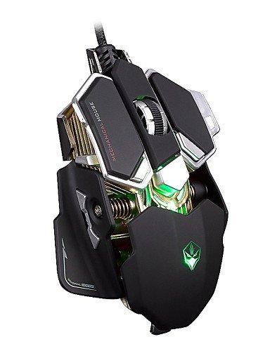 Aluminium-basis-pad (Lumo G10Ergonomischer + Aluminium-Basis hat der Maus Gamer Wired Gaming-Maus Professionelle Maus optisch USB weiß)