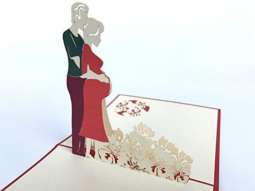 Zeit 3D Pop up Grußkarten Jahrestag Baby Geburtstag Ostern Halloween Mutter Vater New Home NEW YEAR Thanksgiving Valentine Hochzeit Weihnachten ()