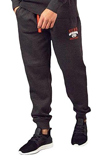 Hip-hop-holzkohle (Herren Ecko Unltd Jogger Hiphop Fleece Joggingunterteil Trainingshose Gymwear Yokohama S-XXL,Holzkohle Heather,S)