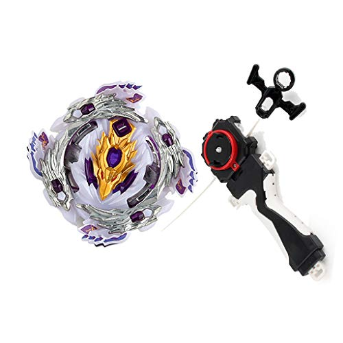 MagiDeal Rapidty Fight Burst Spinning Top with Grip Launcher Children Character Toy Bloody Longinus.13.Jl B-110