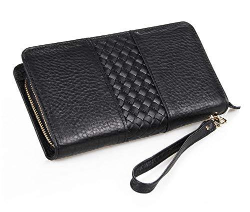 Circlefly Herren Leder clutch Clutch-Tasche Business Handheld Baotou Schicht Kuh Tasche Handtasche