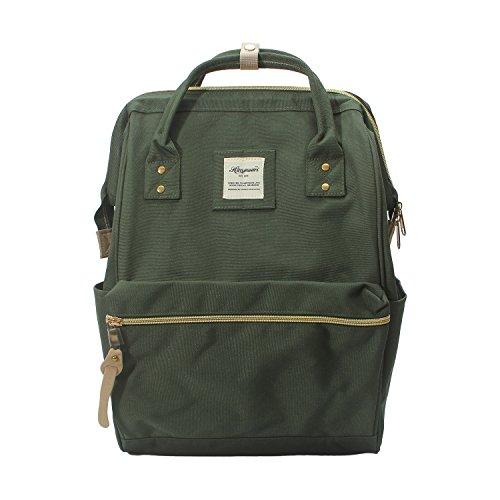 Himawari Polyester Rucksack Laptop Tasche Schultertasche Für 13-Zoll Laptop grün