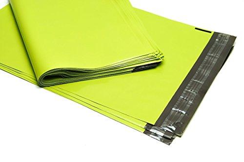 100 Folienmailer® Versandbeutel Neon-Grün 250 x 350 mm: Farbige Plastik Versandtaschen, selbstklebend und blickdicht, Versandtüten aus LDPE Coex Folie, perfekt zum Versand von Kleidung und Textilien