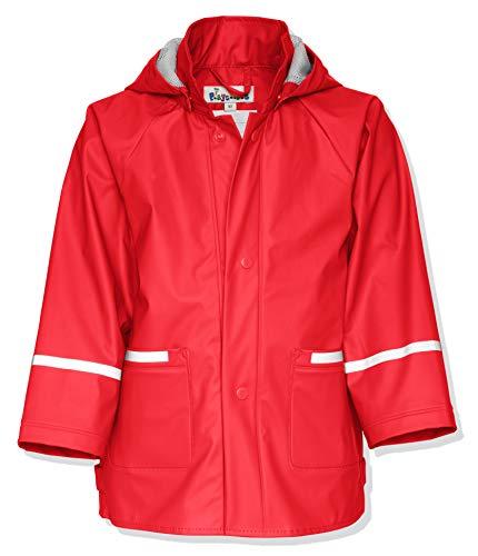 Playshoes Kinder Regenjacke-Mantel mit abnehmbarer Kapuze, Rot (8 rot), Gr. 92 (Mäntel Rot Mädchen)