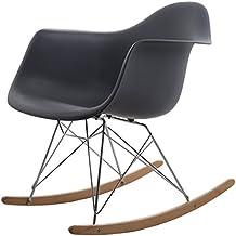 hnnhome chaise bascule chaise rar inspire par eames - Chaise A Bascule Eames