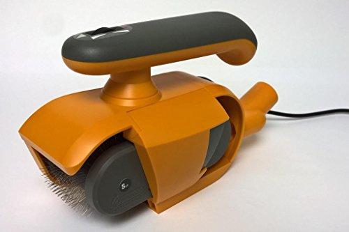 FurWonder Elektrische Hundebürste Basic Orange zum Entfilzen Kämmen Bürsten Massieren