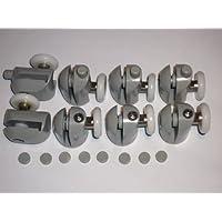 Set di 8 porta-Rulli 4 e 4, parte inferiore con tappi, 23 mm