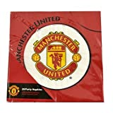 amscan Manchester United Football Club Napkins (20 Pack) / Luncheon Servietten 33cms - Packung mit 20 Stück