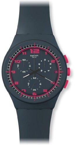 Swatch SUSA400 – Reloj cronógrafo de cuarzo unisex con correa de silicona, color gris