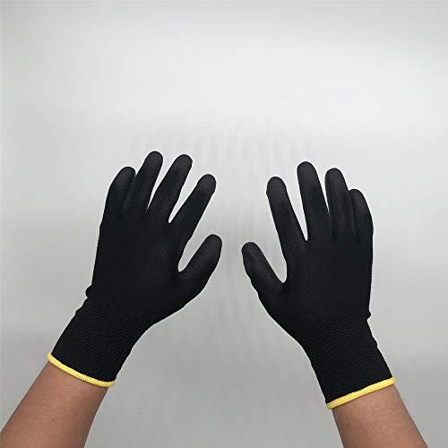 guanti nitrile spessorato Hanggg Protezione antiscivolo in poliestere di nylon antistatico verniciato nero palmo