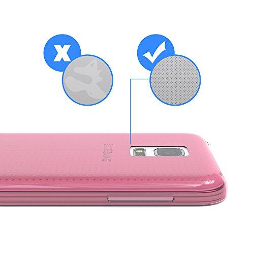 """EAZY CASE Handyhülle für Samsung Galaxy S5 Mini Hülle - Premium Handy Schutzhülle Slimcover """"Clear"""" hochwertig und kratzfest - Silikon Backcover in Schwarz / Anthrazit Clear Rosa"""