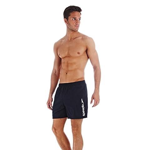 Speedo Men Scope Swim Shorts Speedo Men's Scope 16-Inch Water Shorts - Speedo Navy/White Stripe Logo, 2X-Large, Navy/White, 2X-Large