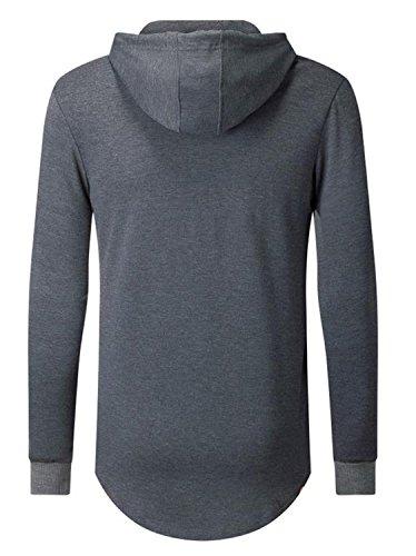 AIYINO Herren Kapuzenpullover Hoodie Sweater Sweatjacke Pullover Sweatshirt  Dark Heather 347568bf6e
