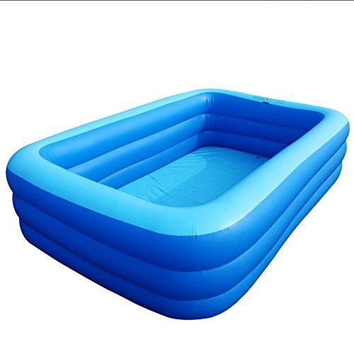ufblasbare Pool-tragbare erwachsene Badewanne verdickte Höhe Familien-im Freienpool-Kind-Kind-Bad PVC-materielles blaues transparentes 2m 2.6m (größe : 200*145*65cm) (2 Gruppe Kostüme)