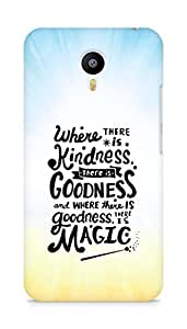 AMEZ where there is kindness there is goodness Back Cover For Meizum 2 Note