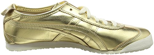 Asics Mexico 66, Sneakers basses mixte adulte Gold (Gold/Gold)