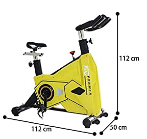 Indoor Cycling Commercial Fahrradtrainer Infinite Resistance 22,5 Kg Flywheel Flacket ABS Plastic Case Double Bearing Pedal Belt Drive Dip Plastic Handle Für Frauen Luxurious Yellow