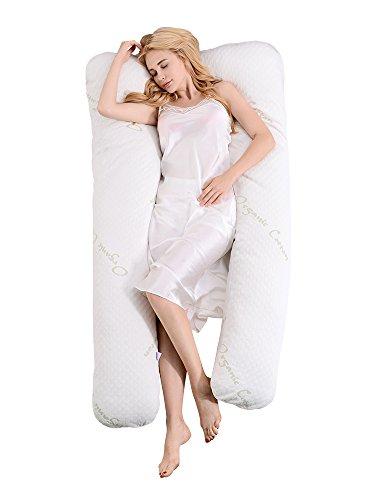 Iyun Mujer almohada algodón orgánico en forma de U cojín de lactancia