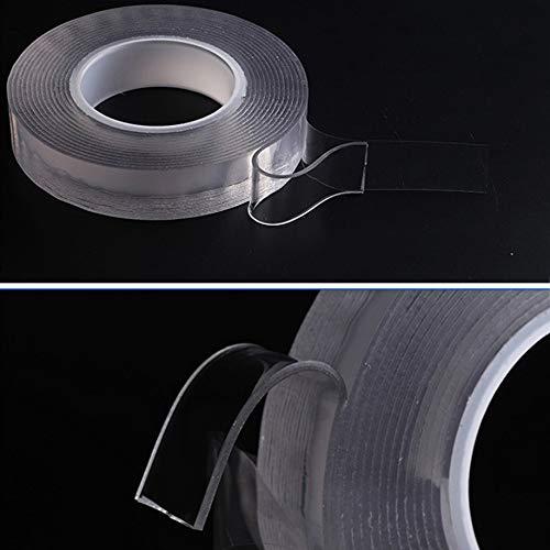 ZAMAOZHU 3m doppelseitiges Klebeband Multifunktions-Universalaufkleber Super-Klebeband Wiederverwendbar Abnehmbar Waschbar (Super Gasherd)