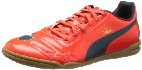 Puma  evoPOWER 4 IT Jr, Chaussures de football mixte enfant Rouge - Rot (fluro peach-ombre blue-fluro yellow 01)