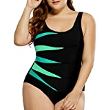 Trajes de Baño Monokini de Una Pieza Bikini,Verano 2019 Talla Grande Bañador Bikini Elástico Mujer Traje de Playa Sólido Color Impresión Ropa de Baño Bikinis de Baño Natación Piscina