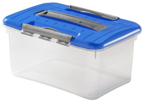 Optima Transportation Box with Lid, Blue 29 x 20 x 14 CM 5 L VE = 1 by Curver