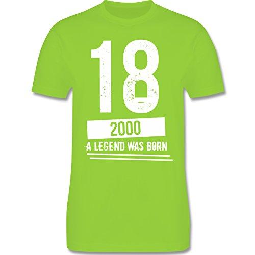 Shirtracer Geburtstag - 18 Geburtstag Jungs - Herren T-Shirt Rundhals Hellgrün