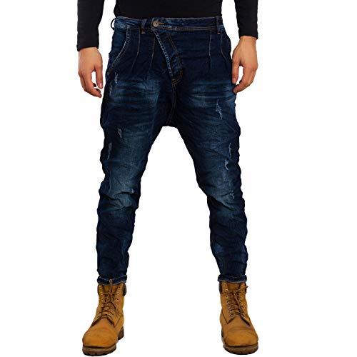 Toocool - Jeans Uomo Pantaloni Cavallo Basso Harem Denim Casual Vari Modelli Gen-1 [28/tg 42,M1214]