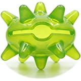 SuperDesign Tough Indoor TPR Big Mouth Monster Treat Dispenser Interactive Pet Toy for Medium and Large Dogs Transparent Green