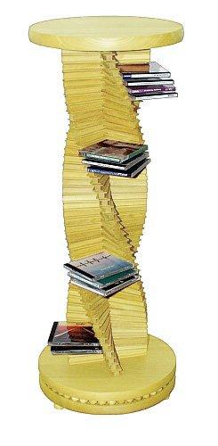 CD-Säule, -Helix- aus Ahornholz in Spiralform, 180 CDs