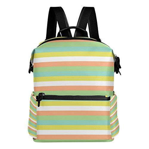 FANTAZIO Rucksäcke Blau Dreiecke Schule Tasche Polyester Tagesrucksack mit Reißverschluss für Mädchen/Lady/Frauen One Size 4