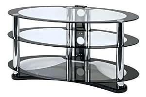 Zyon ellipse lcd et plasma en verre meuble tv avec for Meuble tv ellipse 00381