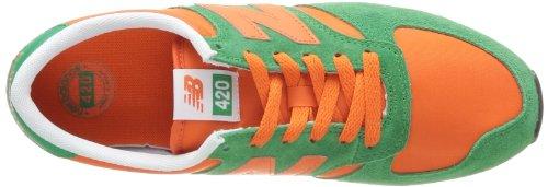 New Balance U420 D 14E, Baskets mode mixte adulte Vert (Green/Orange (345))